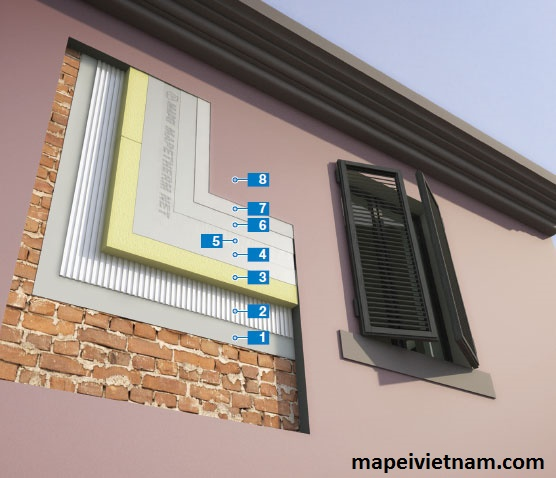 Thi công hệ thống cách nhiệt trên tường