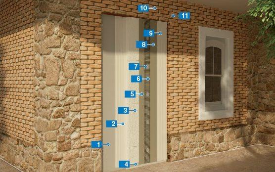 Thi công hệ thống cách nhiệt và ốp lát đá tái sử dụng trên tường cũ